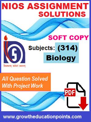Biology-314 Nios solved Assignment