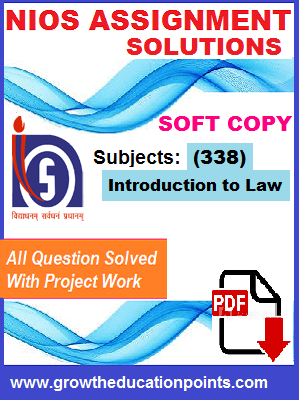 Nios Introduction to law (338) Assignment