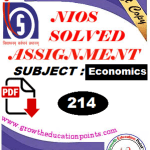 Economics (214) solved assignment