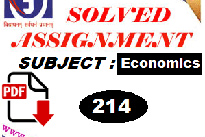 Economics (214) solved assignment