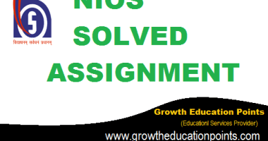 nios tutor marked Assignment