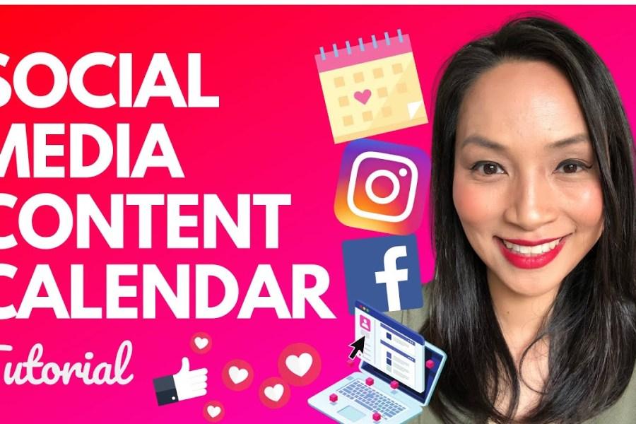 How to create a social media content calendar (for 2020)