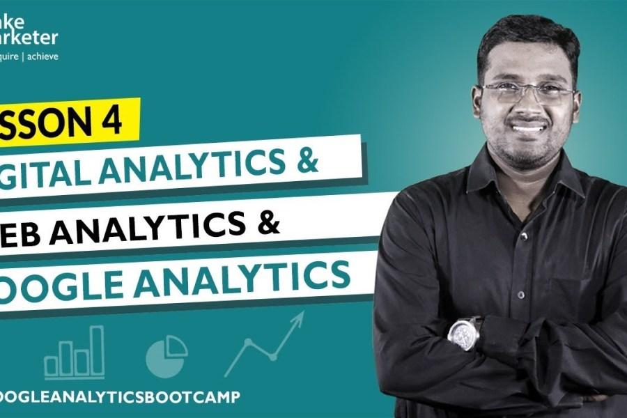 Google Analytics Tutorial   Difference - Digital Analytics, Web Analytics & Google Analytics Part 4