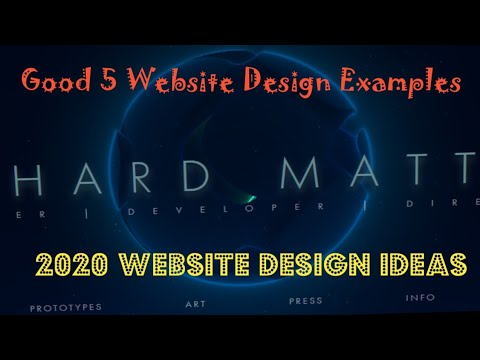 5 Awesome Web Design Inspiration in 2020 | Good 5 web design Examples in 2020