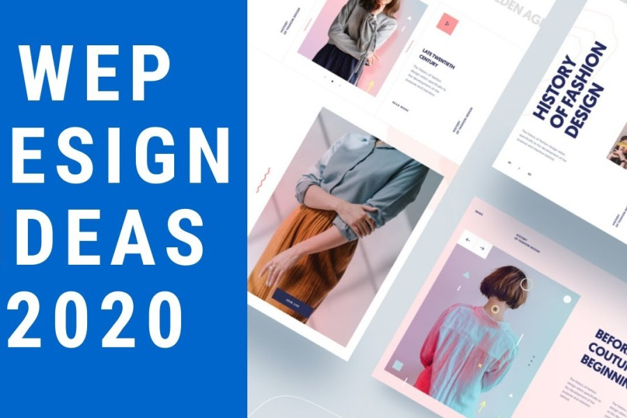Top 5 web design inspiration trends 2020 I responsive modern ui ux web design ideas