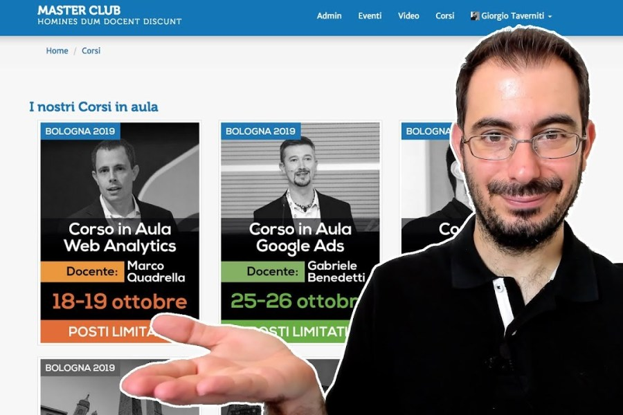 I Nostri Corsi: Web Analytics, Google Ads, SEO