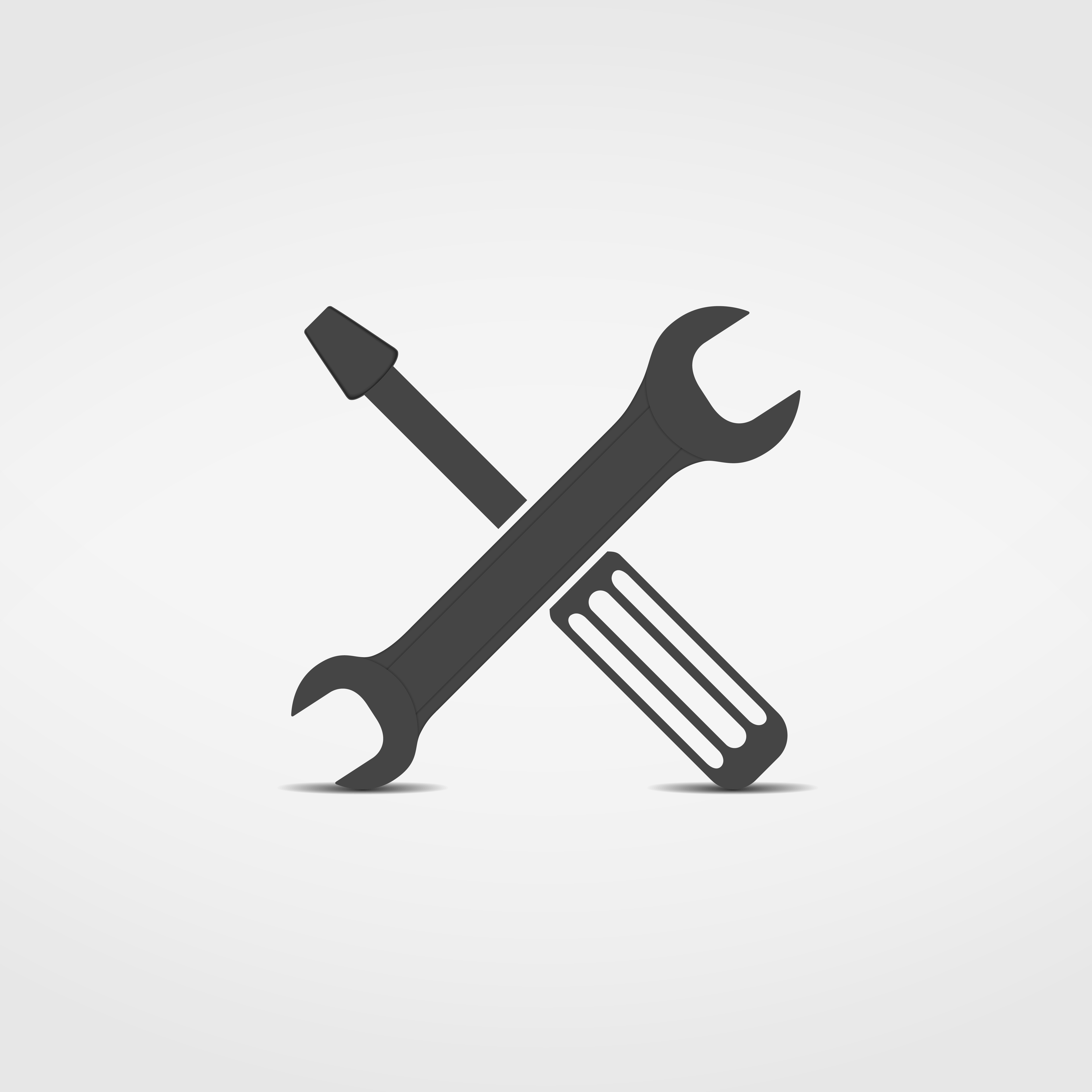 Screwdriver and wrench icon, vector eps10 illustration