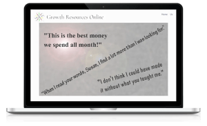 Growth Resources Online, Personal Growth, Online Courses, Testimonials 1