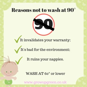 Reason's not to wash your nappies at 90