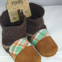 Nooks brown and tartan 12-18m