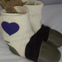Nooks green with purple heart 18-24m
