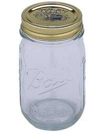 For cannabis curing, use quart-sized wide mouth glass mason jars.
