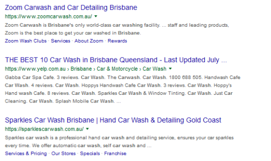 Search Engine Ranking Results Example