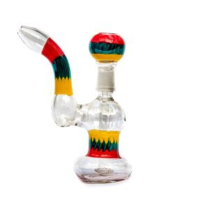 RAINBOW COLOURS GLASS BONG OIL WAX CONCENTRATES 17Cm