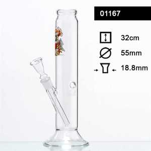 TATTOO GLASS BONG H 32CM Ø 55MM SOCKET 18.8MM