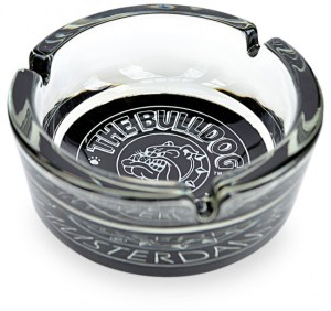 THE BULLDOG GLASS ASHTRAY
