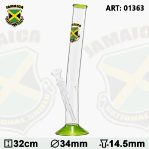 Country Hangover Glass Bong with Jamaica Logo H:32cm