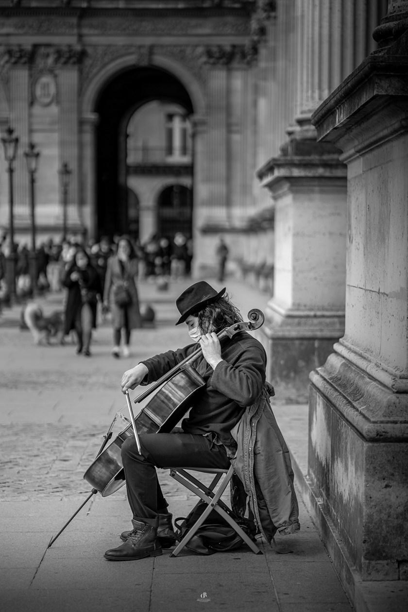 Street Cellist Print