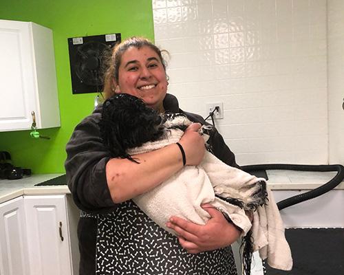 Jenna Bather at Grrreendog Grooming, Spa and Daycare near Albany NY
