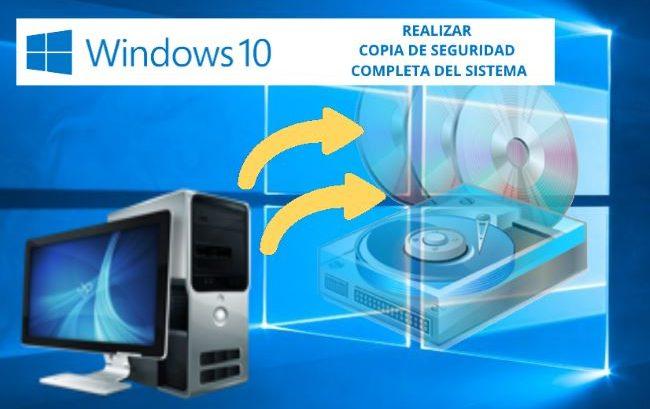 copia de seguridad de windows10 - imagen del sistema