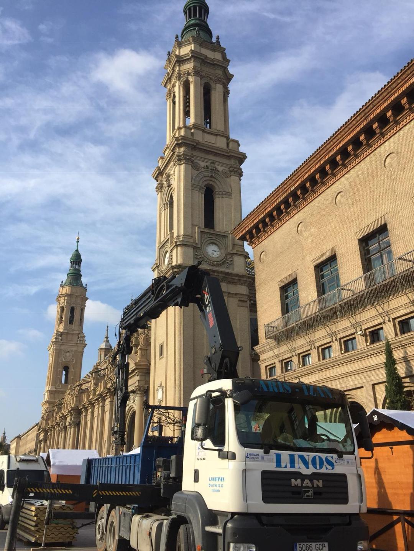 Grúas Zaragoza trabajo en altura
