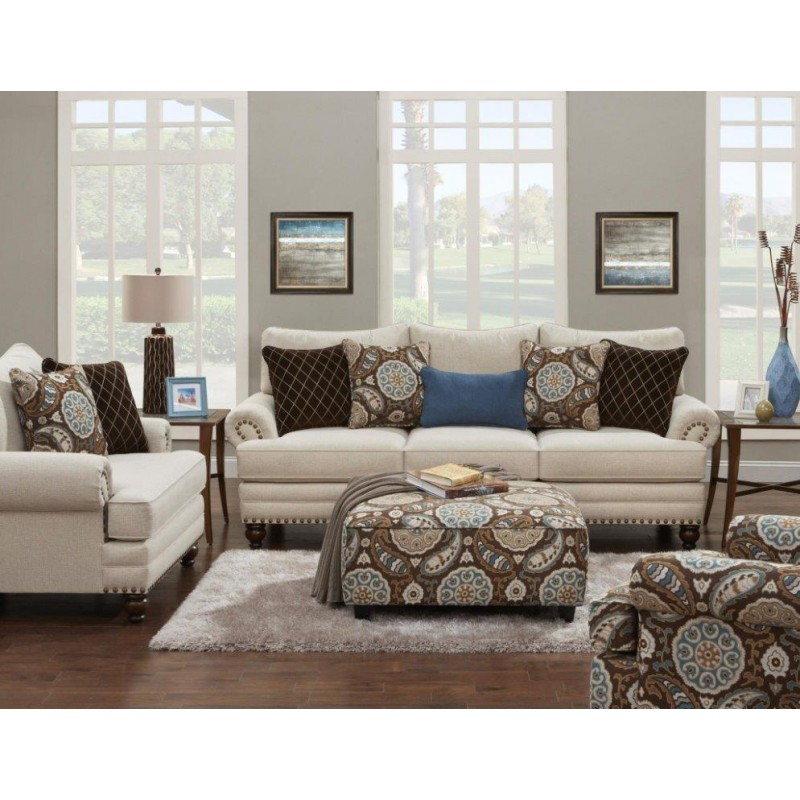 Anna White Linen Sofa Collection Grubbs Furniture And