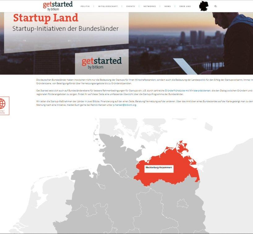 Internetseite Startup Land