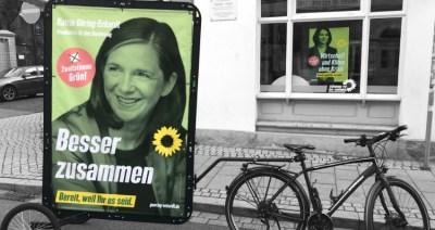 Wheelboard Wahlkampfstand