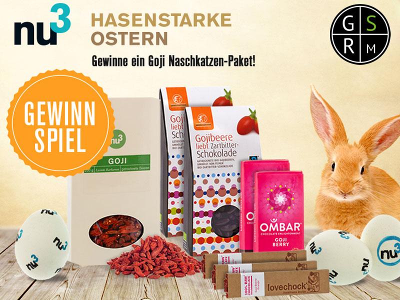 Gewinne mit Grüne Smoothies Rezepte & nu3 das Goji Naschkatzen Pakete
