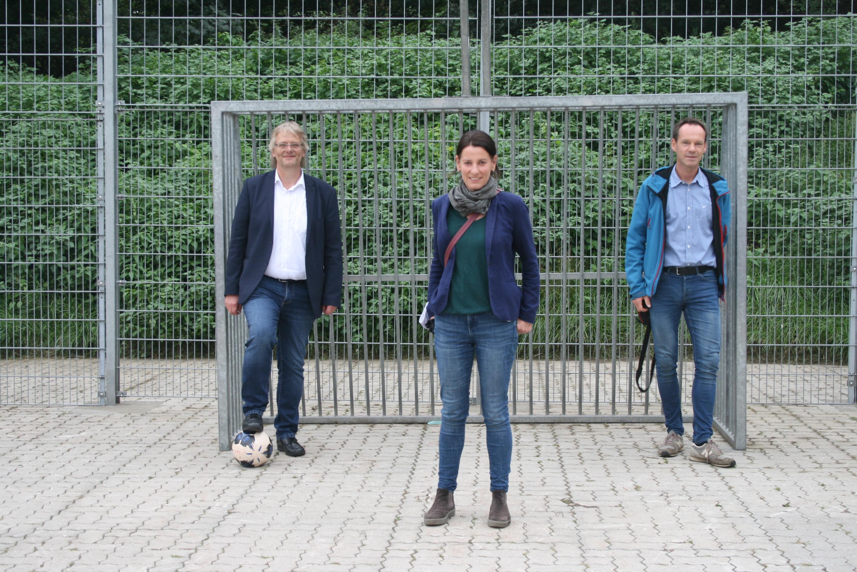 Attraktive neue Streetballanlage am Holstenhofweg