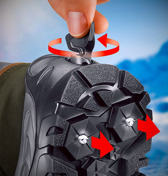 Meindl Spikes Boots - With Retractable Spikes