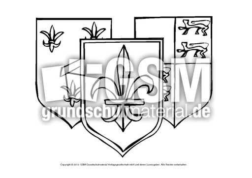 Ausmalbilder Wappen 1 14 Ausmalbltter Mittelalter