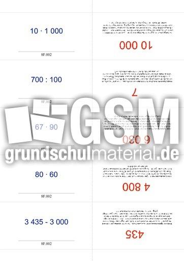 Kartei ZR10000ASMD 1 Grundrechenarten Karteien Mathe