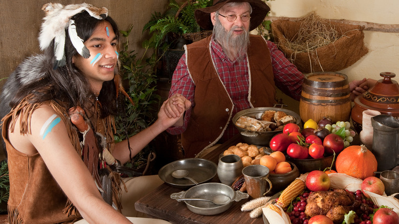 Reenactment of first Thanksgiving