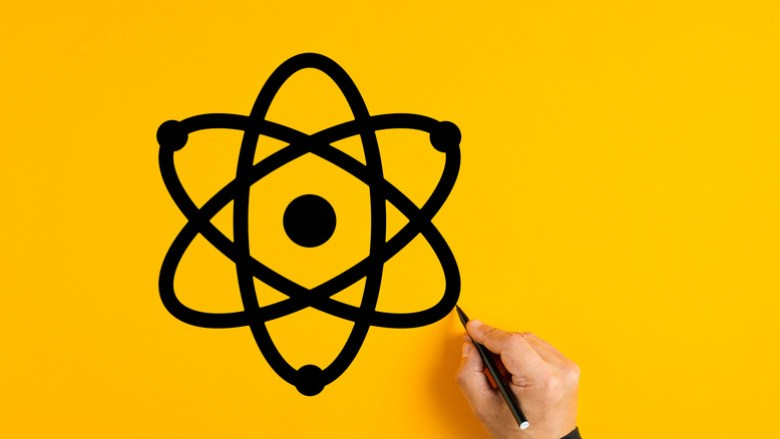 Drawing of an atom