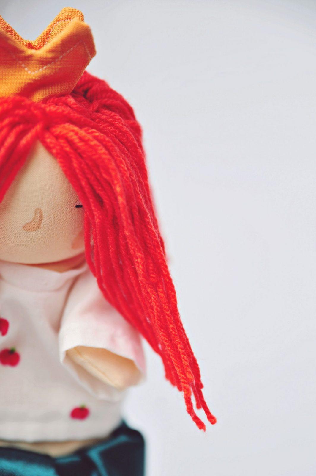 pacynka dla dziewczynek bajka o złości ręcznie robiona