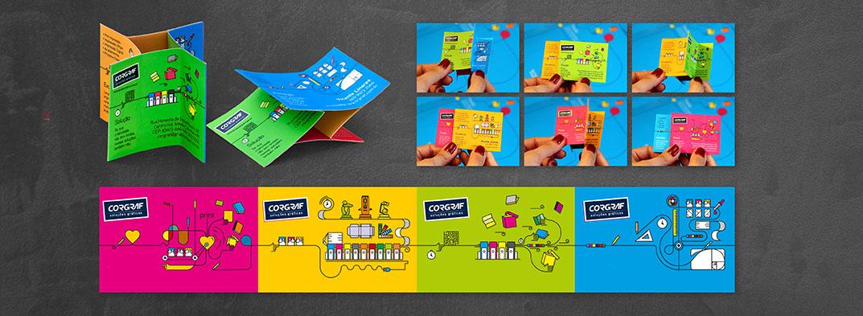 Cartão Corgraf - um formato inusitado e inovador para expressar a capacidade de impressionar e ser interativo utilizando um cartão de visitas