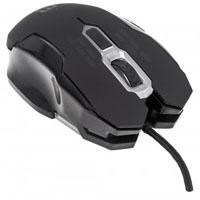 MOUSE GAMING OPTICO MANHATTAN USB 6 BOTONES 2400 DPI AJUSTABLE NEGRO