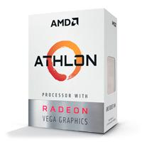 PROCESADOR AMD ATHLON 200GE S-AM4 35W 3.2 GHZ CACHE 4 MB 2CPU CORES / GRAFICOS RADEON VEGA 3GPU / CON VENTILADOR /COMP. BASICO.