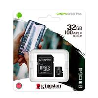 MEMORIA KINGSTON MICRO SD CANVAS SELECT PLUS 32GB UHS-I CLASE 10 C/ADAPTADOR
