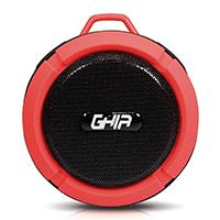 BOCINA BLUETOOTH STORM WATERPROOF GHIA ROJA 3W RMS RADIO FM MICRO SD CARD