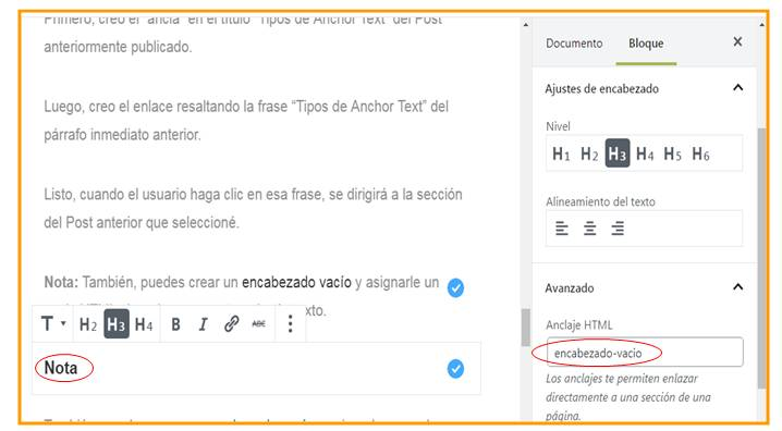 Cómo Crear un Anchor Text