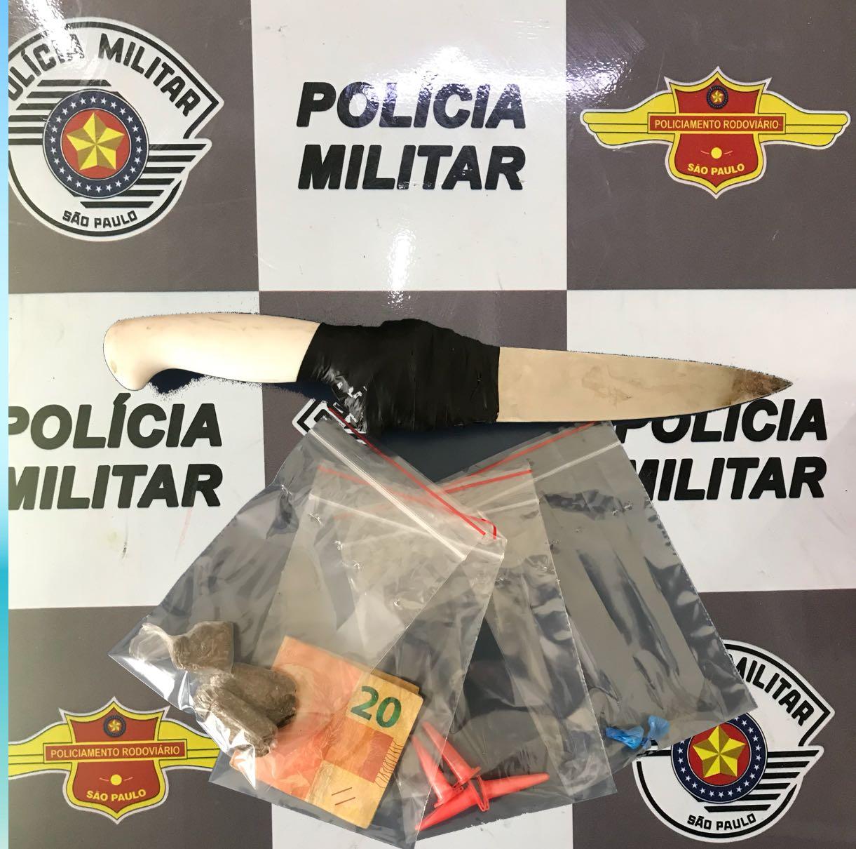 Polícia Militar Rodoviária prende traficante de drogas na SP-191 em Rio Claro