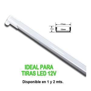 Perfil alumini 17x12x7 2 Tira Led