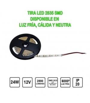 Tira Led 12V 24W 5 metres IP20