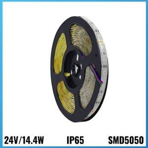 Tira Led 24V 14.4W 5 metres IP65 6000k
