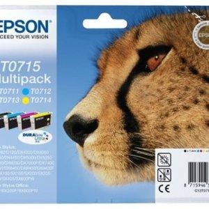 Epson T0715 Pack de 4 Cartuchos de Tinta Originales - C13T07154012