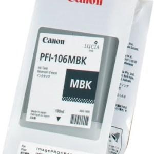 Canon PFI106 Negro Mate Cartucho de Tinta Original - PFI106MBK/6620B001