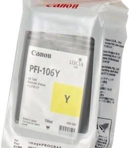 Canon PFI106 Amarillo Cartucho de Tinta Original - PFI106Y/6624B001
