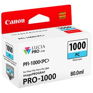 Canon PFI1000 Cyan Photo Cartucho de Tinta Original - PFI1000PC/0550C001